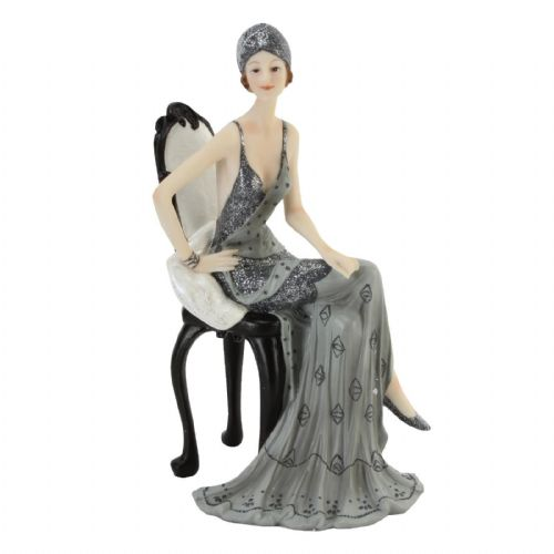 Art Deco Midnight Shimmer Lady Figurine Statue by Juliana - 'Betty' 60751